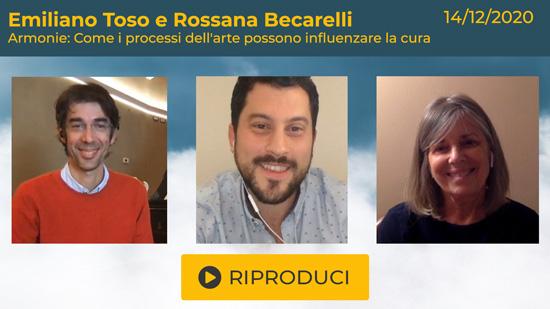 """Webinar Gratuito con Emiliano Toso e Rossana Becarelli: """"Armonie: Come i processi dell'arte possono influenzare la cura"""""""